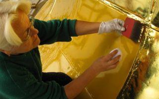 Правила и способы нанесения позолоты на металл самостоятельно